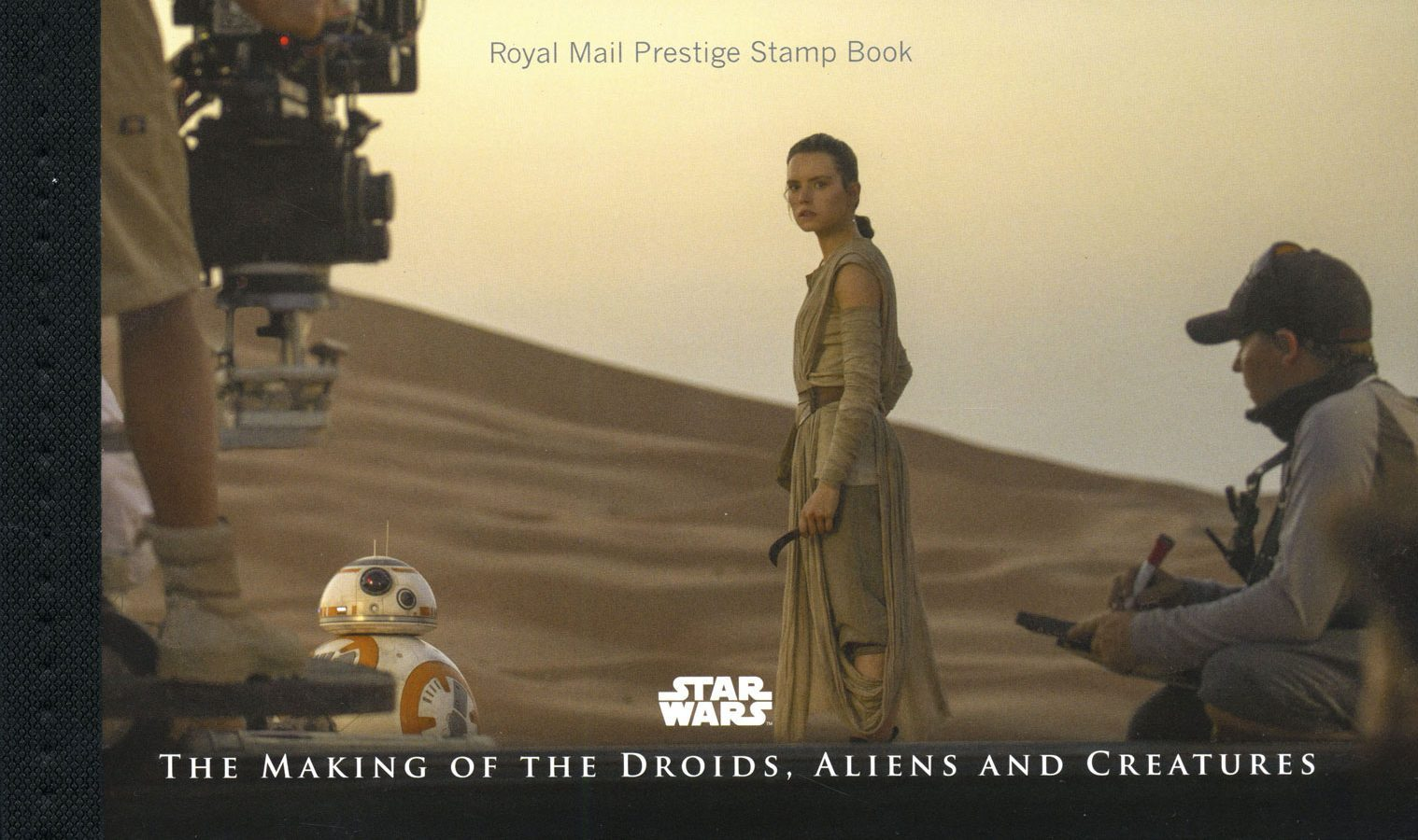 The front cover of the Prestige Stamp book for the Star Wars issue.