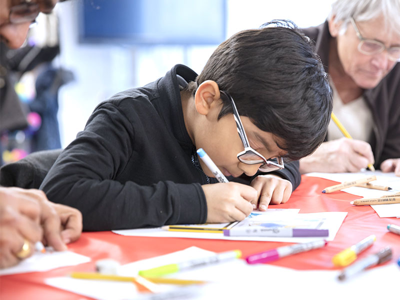 arts and crafts holiday activity in The Postal Museum