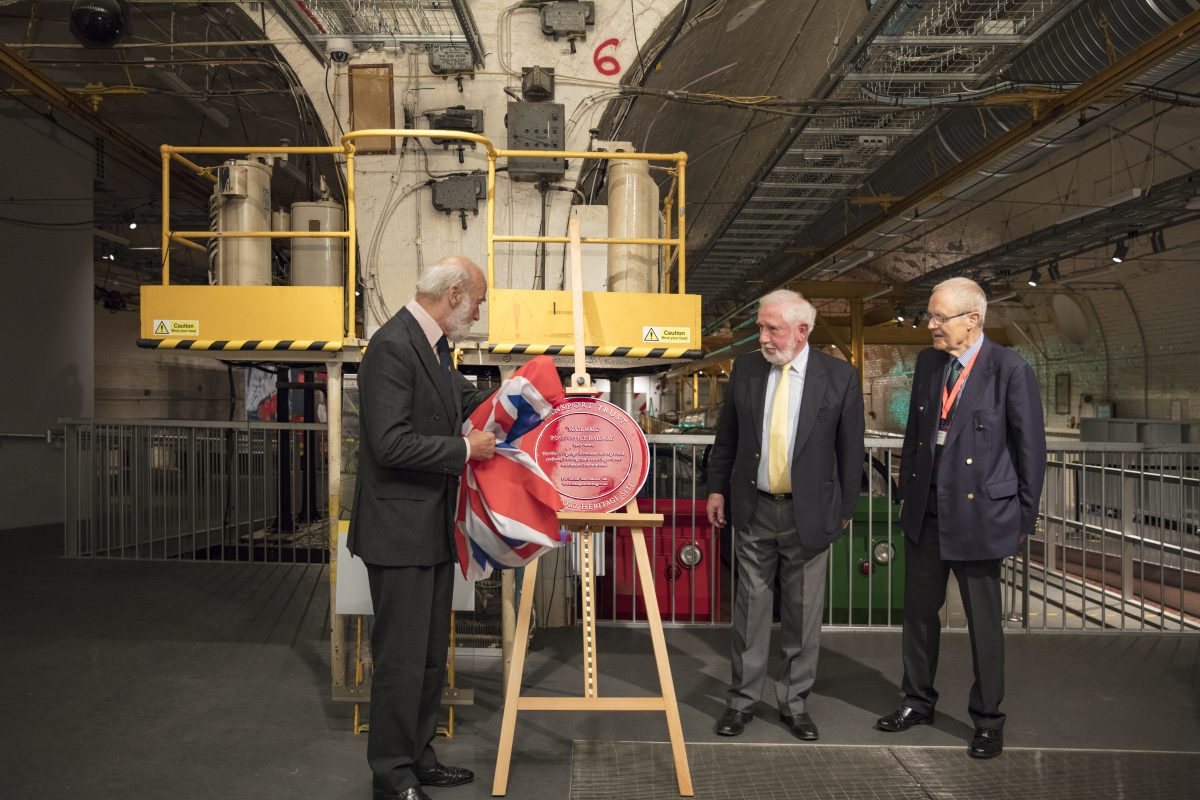 Red Wheel plaque unveiled by HRH Prince Michael of Kent