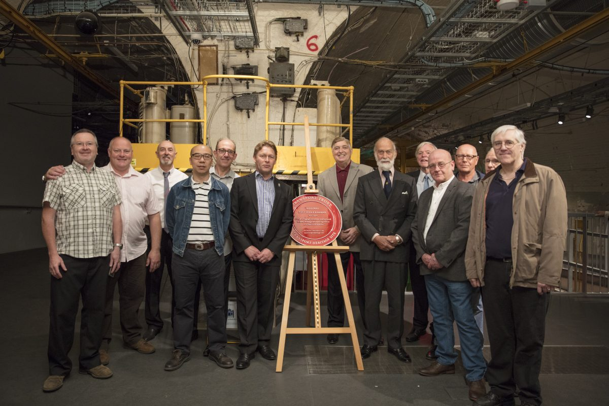 Red Wheel plaque unveiled at Mail Rail
