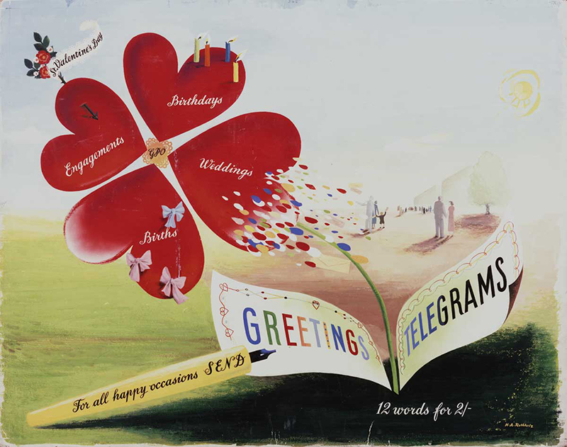 'For all happy occasions send Greetings Telegrams', 1950 (POST 109/408)
