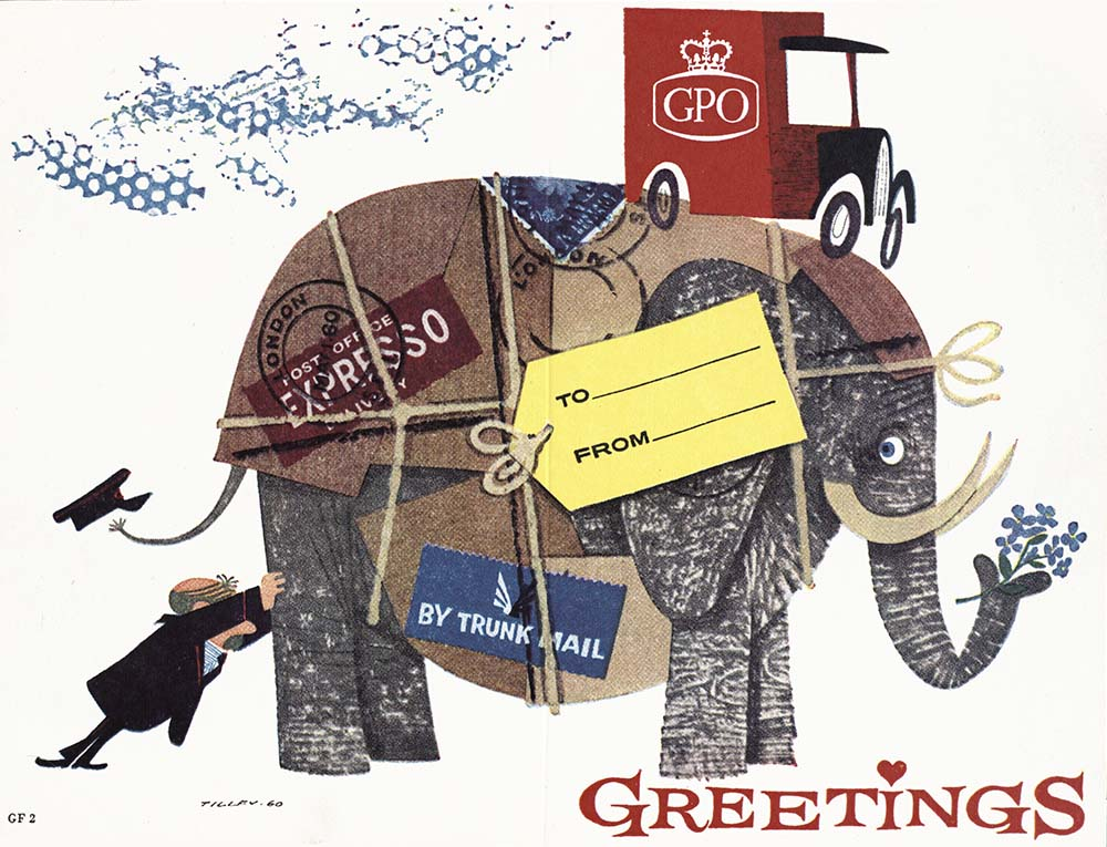 Specimen GPO Christmas card, 1965 (POST 122/15125)