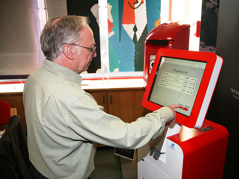 The Post and Go machine at The Postal Museum