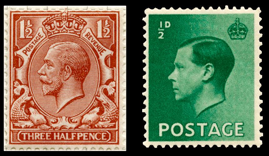 George V and Edward VIII definitives.