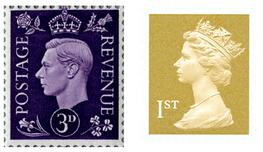 George VI and Elizabeth II definitives.