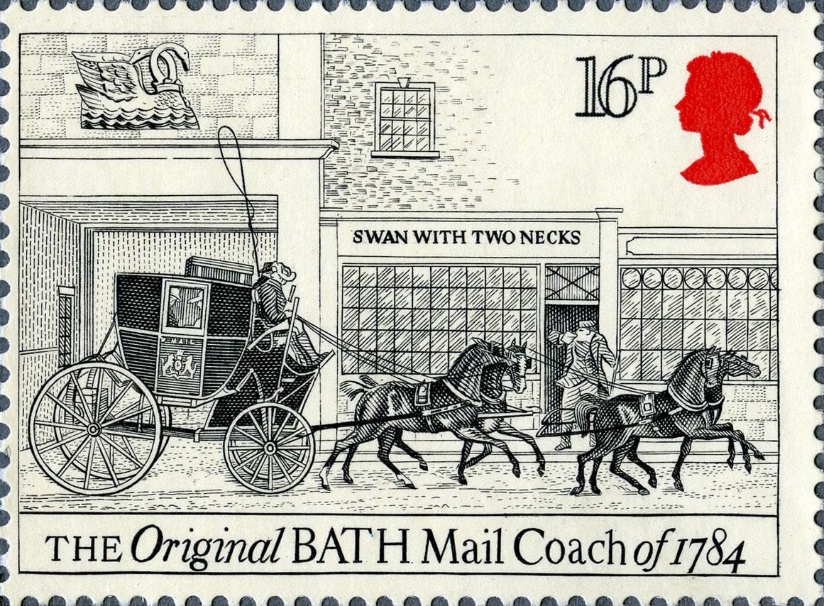 16p, Bath, The Royal Mail 1984