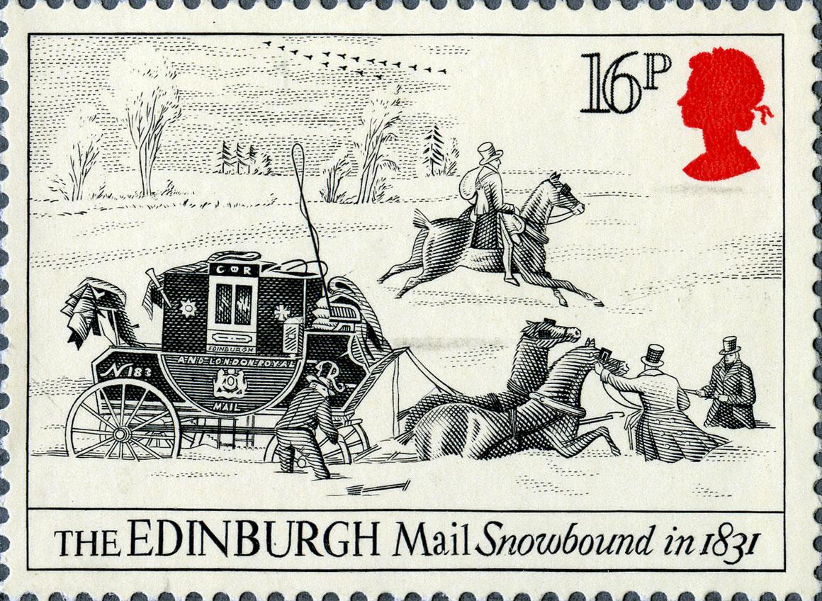 16p, Edinburgh, The Royal Mail, 1984