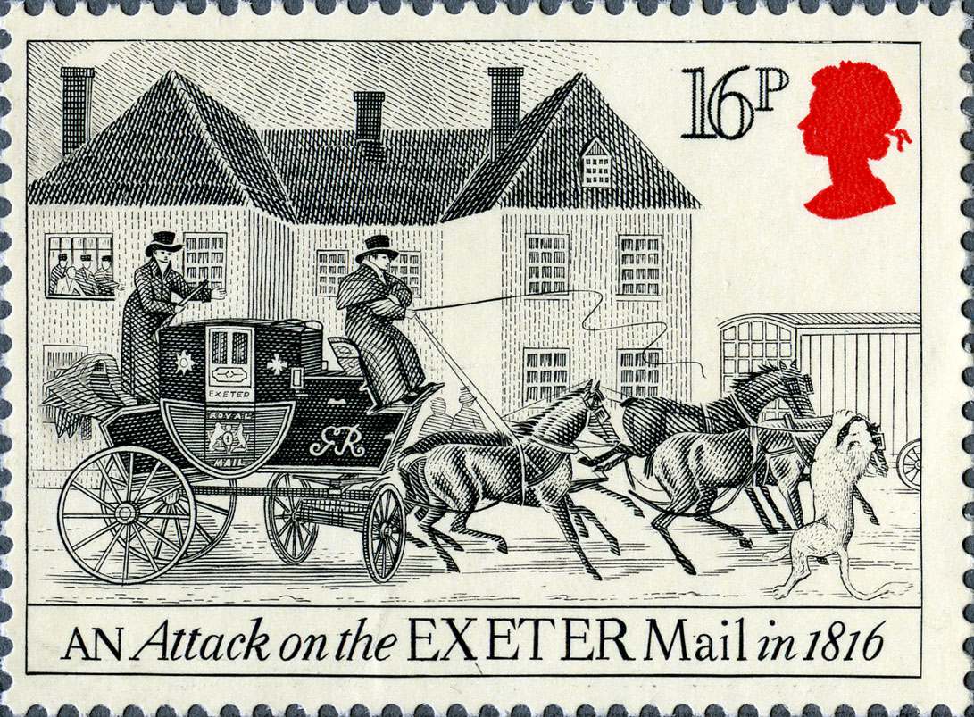 16p, Exeter, The Royal Mail, 1984