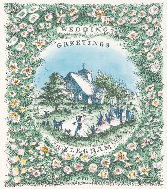 A Wedding greetings telegram