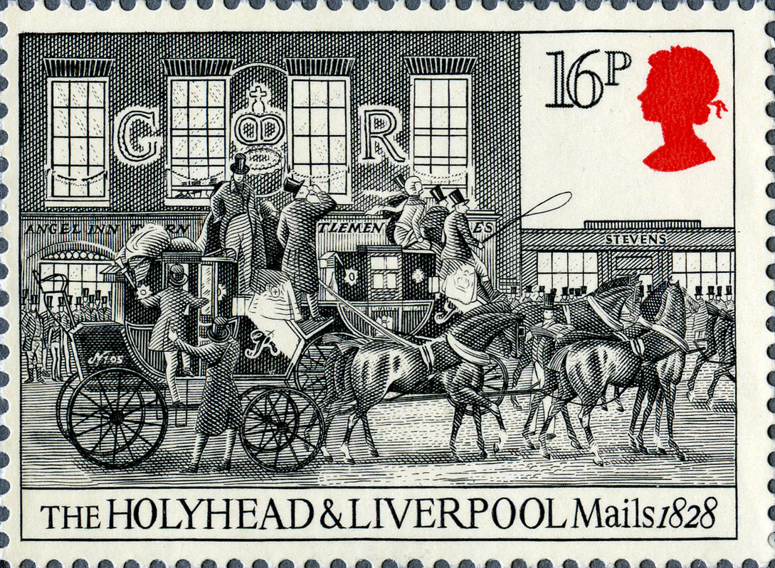 16p, Holyhead & Liverpool, The Royal Mail, 1984