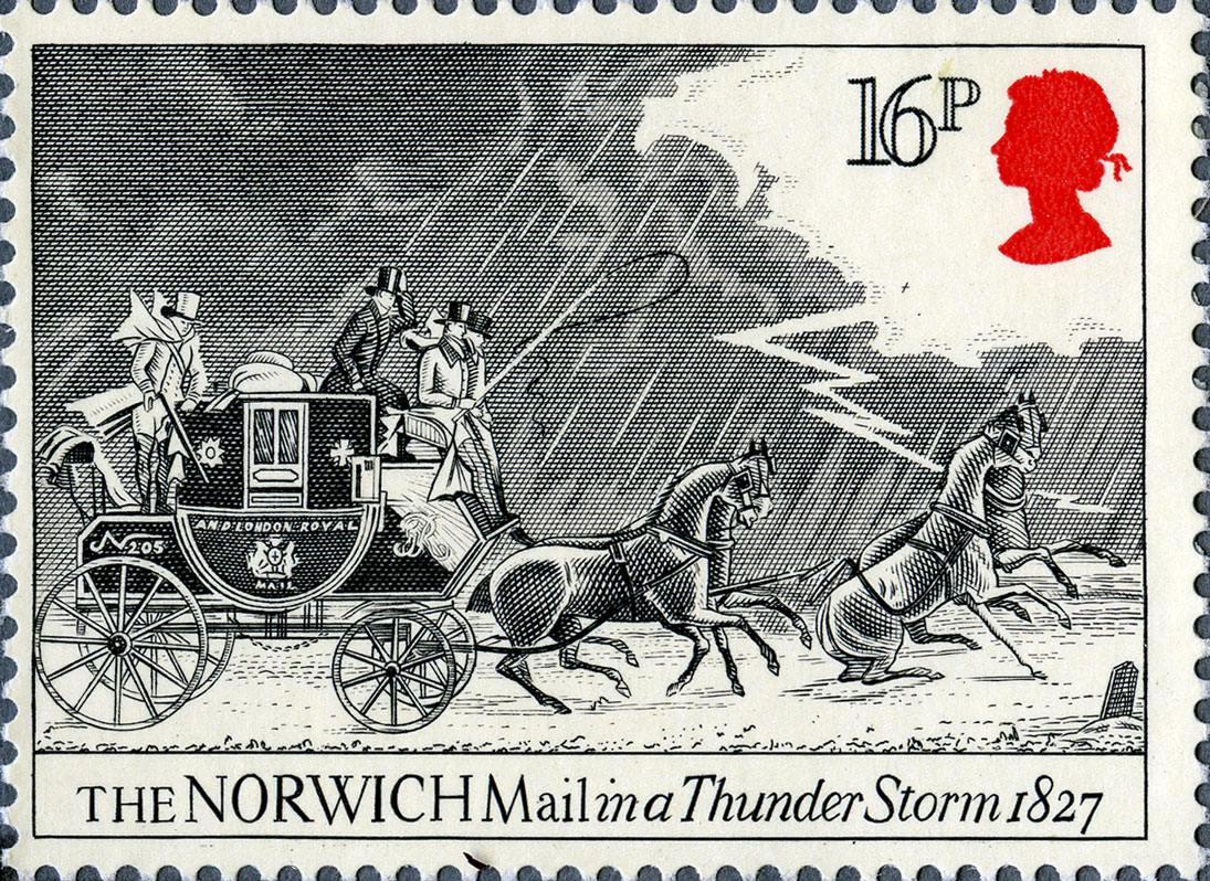 16p, Norwich, The Royal Mail, 1984