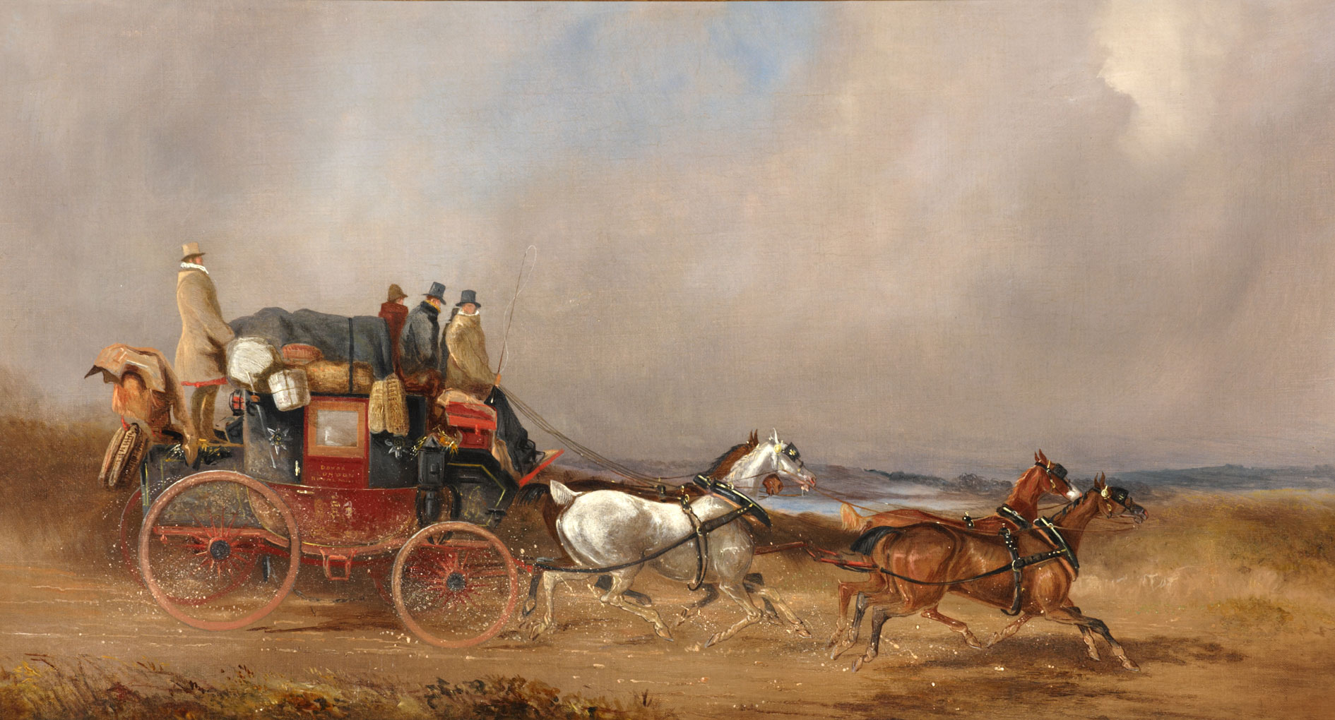 OB1996.17 'The Dover to London Royal Mail on the Open Road' by Charles Cooper Henderson