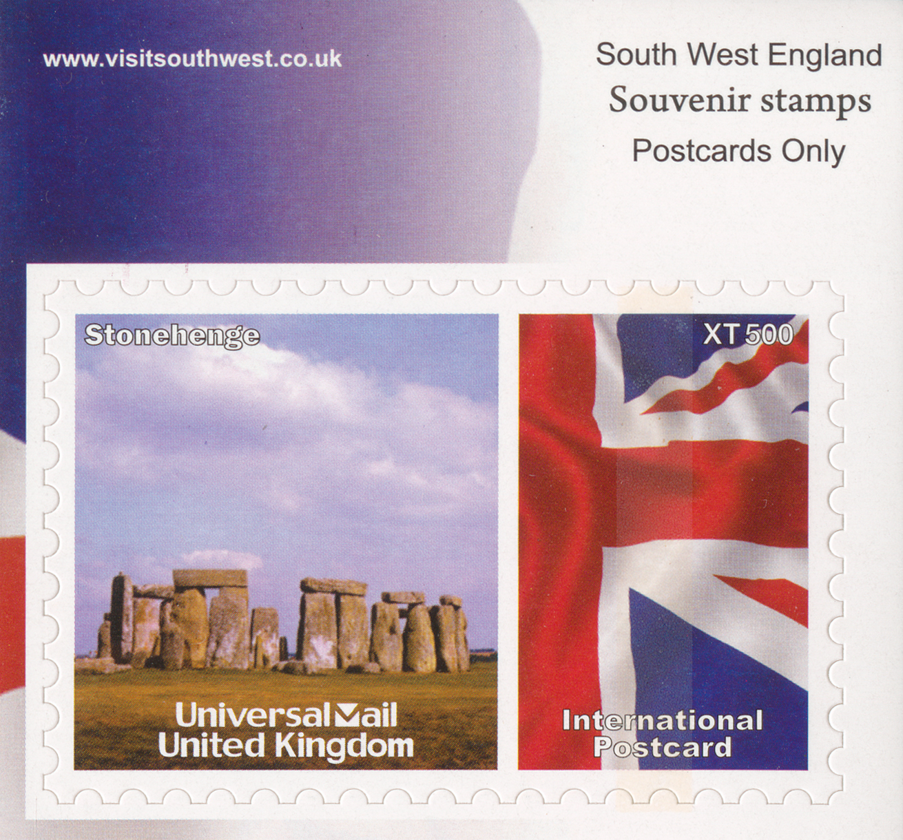 International Postcard stamp with image of Stonehenge.