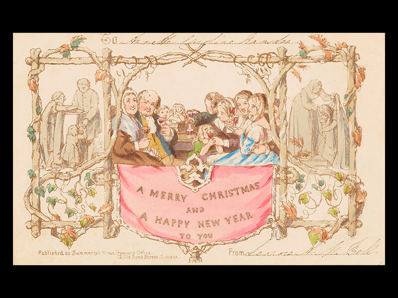 the first christmas card  the postal museum