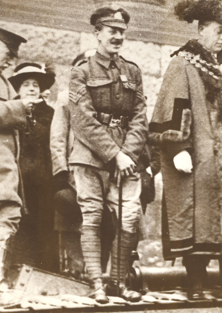 Photograph of Sergeant Alfred Knight in uniform.