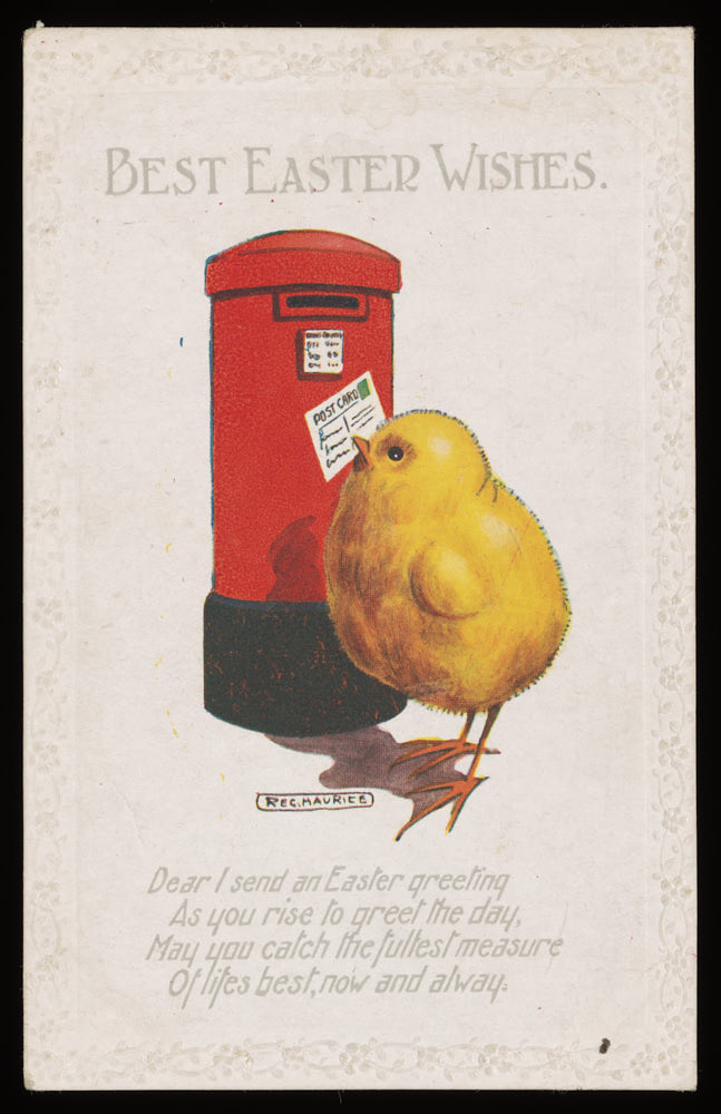 Easter postcard, front, 19th century, OB1996.531