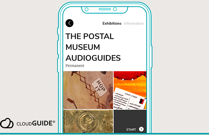 Preview image showing The Postal Museum audio guide in the Cloud Guide app.