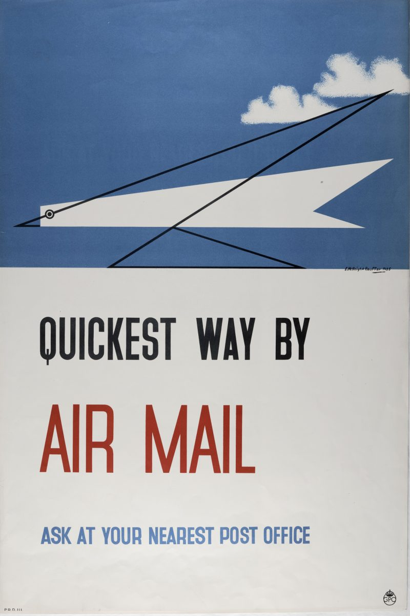 Poster advertising the air mail service in 1935.