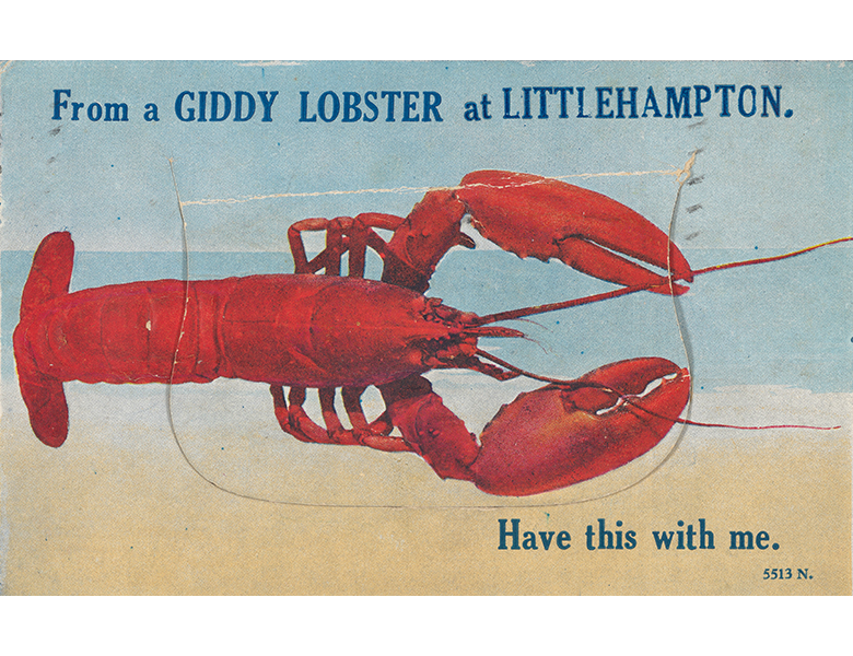 Seaside: 'It's Great Here' | Nostalgic saucy seaside postcards by the prolific Bamforth & Co Ltd reminding people of their childhood holidays.