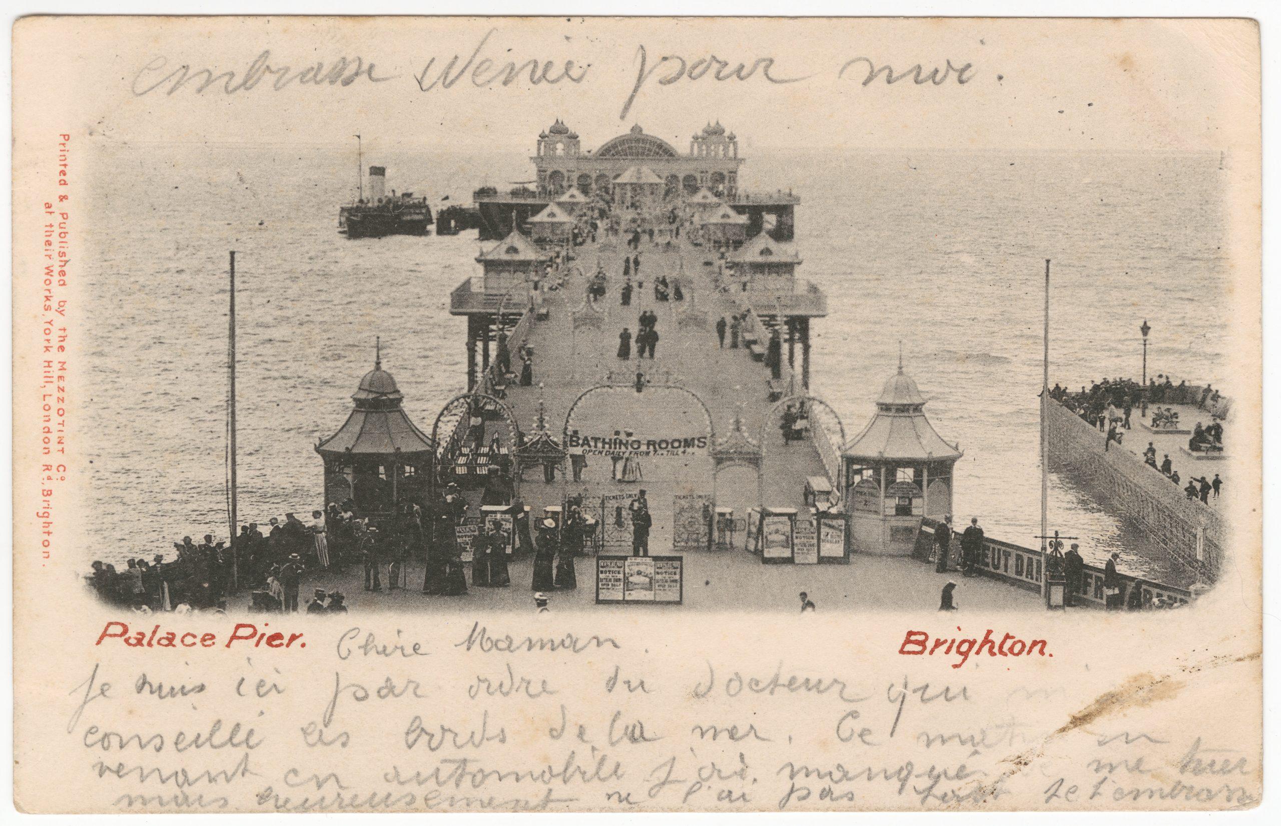 'Palace Pier, Brighton' Postcard, 1902, PH64Y/30 (item not in exhibition)