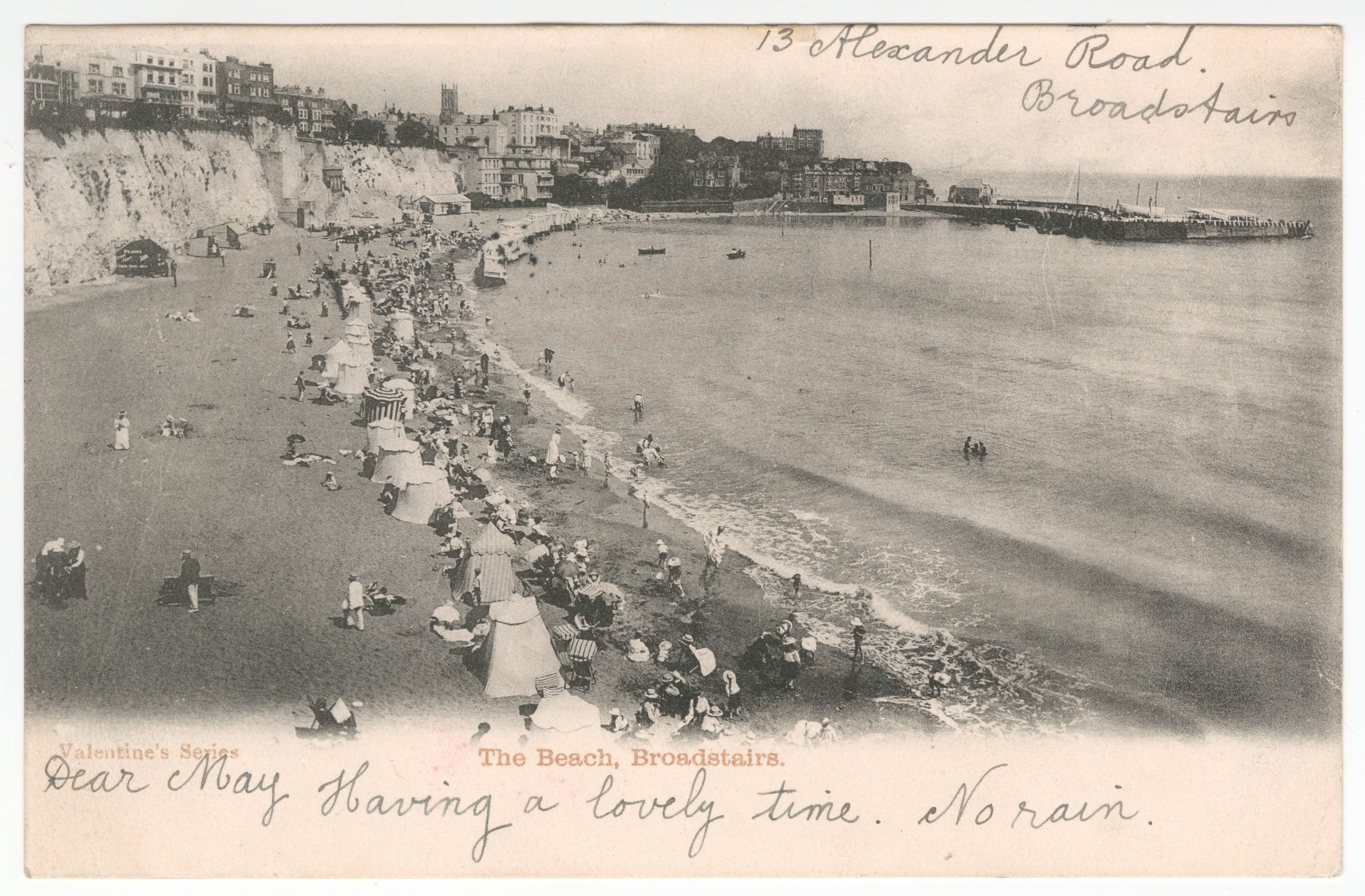'The Beach, Broadstairs' Postcard, 1903, PH57/33a (item not in exhibition)